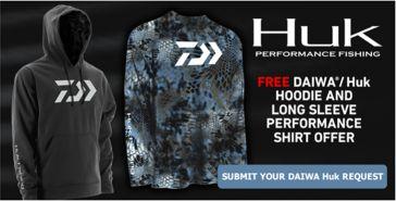 Daiwa HUK Hoodie Promotion